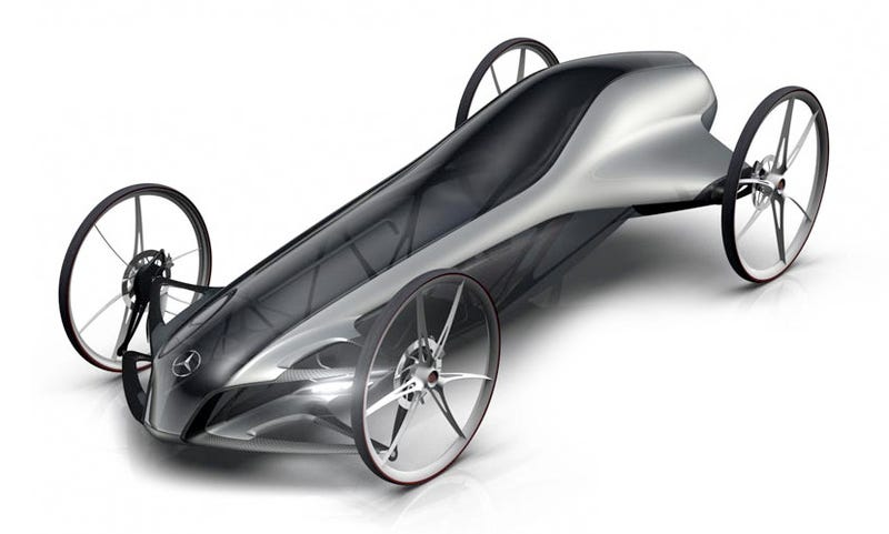 Illustration for article titled Silbervogel Gravity Car Has No Muscle, Still Makes the Mark