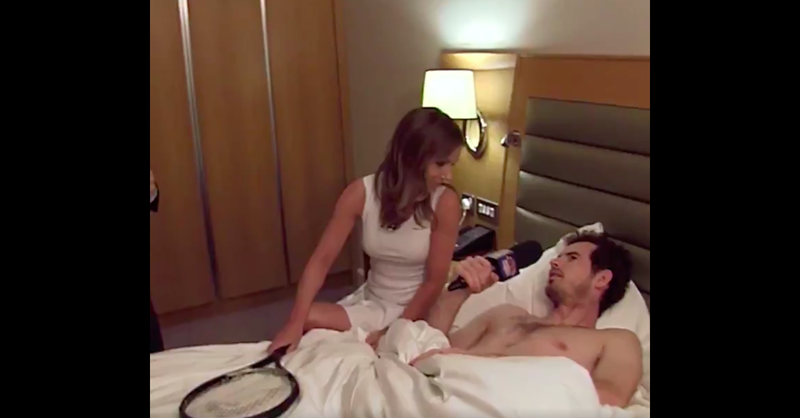 Illustration for article titled BBC Makes Shirtless Andy Murray And Geri Halliwell Sing Spice Girls Songs In Bed