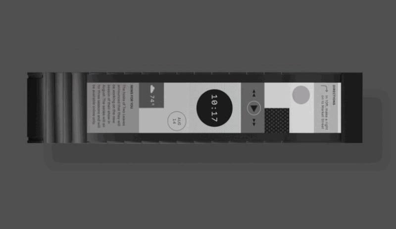 Toda la superficie de este nuevo smartwatch es una pantalla táctil flexible
