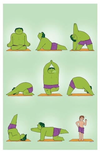Illustration for article titled How Does The Hulk Turn Back Into Bruce Banner? Yoga
