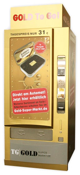 Illustration for article titled Vending Machine Dispenses Gold Bars To Go