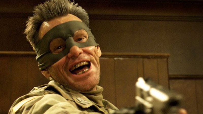 Illustration for article titled Jim Carrey says he can no longer support Kick-Ass 2 because of Sandy Hook