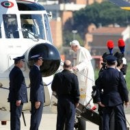 Illustration for article titled The Pope Flies His Own Helicopter