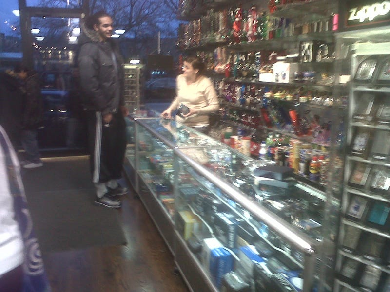 Illustration for article titled Joakim Noah Spotted In His Natural Habitat: Shopping For Bongs (MORE PHOTOS)
