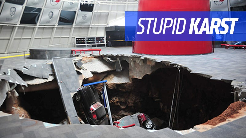 Illustration for article titled Here's Why A Kentucky Sinkhole Might Have Swallowed Those Corvettes