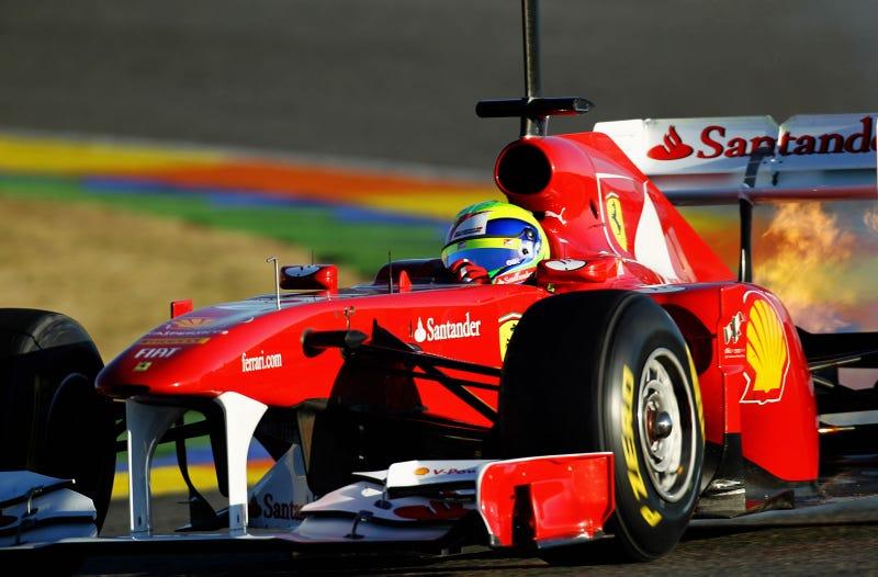 Illustration for article titled Ferrari F150 Massa Fire: Testing Photos