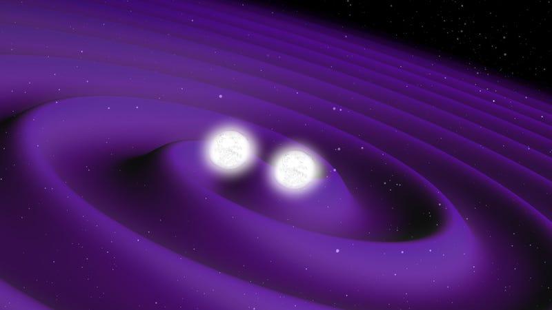 Artist's depiction of colliding neutron stars