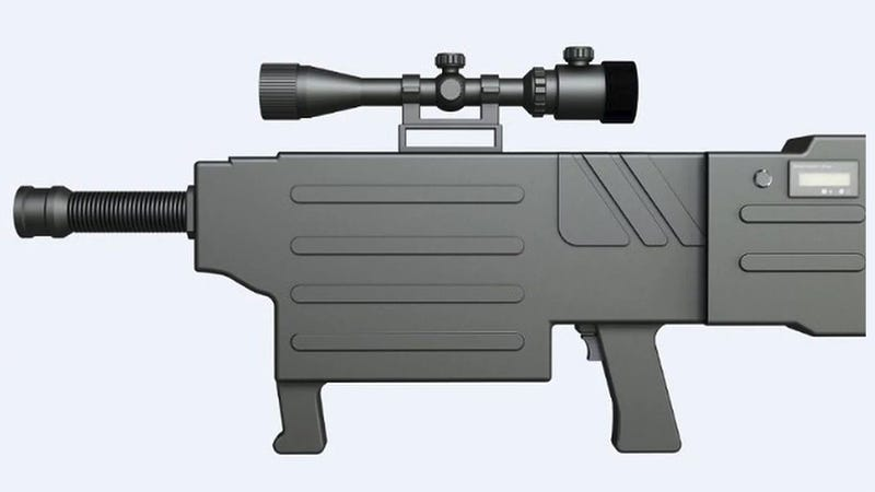 Body of the ZKZM-500 laser assault rifle.
