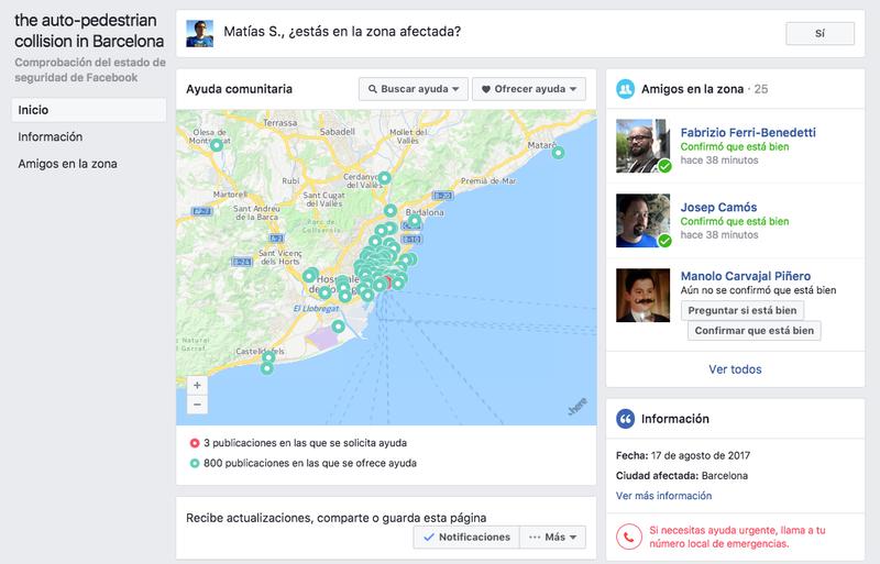 """Illustration for article titled Facebook activa el """"Safety Check"""" en Barcelona y cientos de usuarios ofrecen refugio y transporte"""