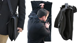 Illustration for article titled This Bullet-Proof Briefcase Unfolds Into a Personal Shield