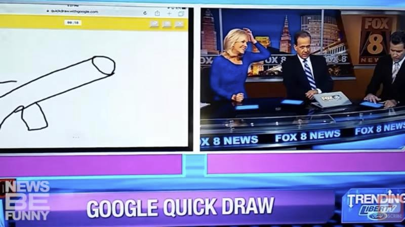 Illustration for article titled Just 10 minutes of news anchors accidentally drawing dicks