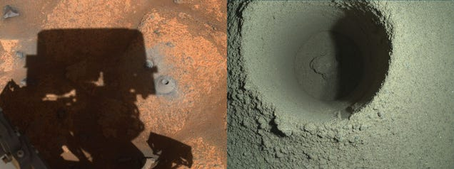 Perseverance's Missing Mars Rock Sample Appears to Have Crumbled Away