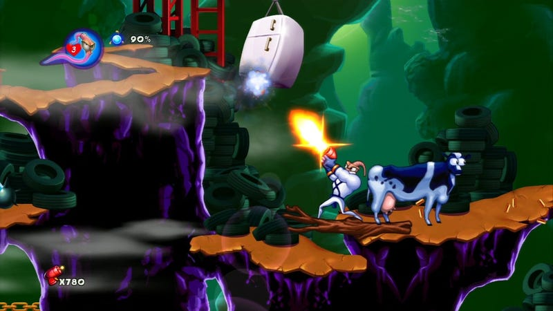 Illustration for article titled Earthworm Jim's Mean-Spirited Satire Doesn't Hold Up