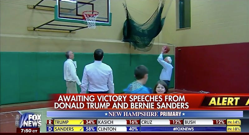 Illustration for article titled Bernie Sanders Used A Lot Of Elbows In His Pickup Basketball Games