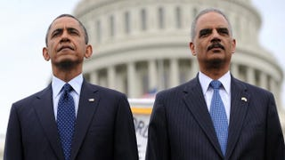President Barack Obama and Attorney General Eric Holder in 2013Olivier Douliery-Pool/Getty Images