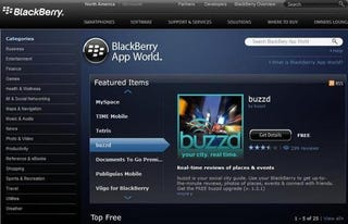 Illustration for article titled BlackBerry App World Now Available Through Your Browser