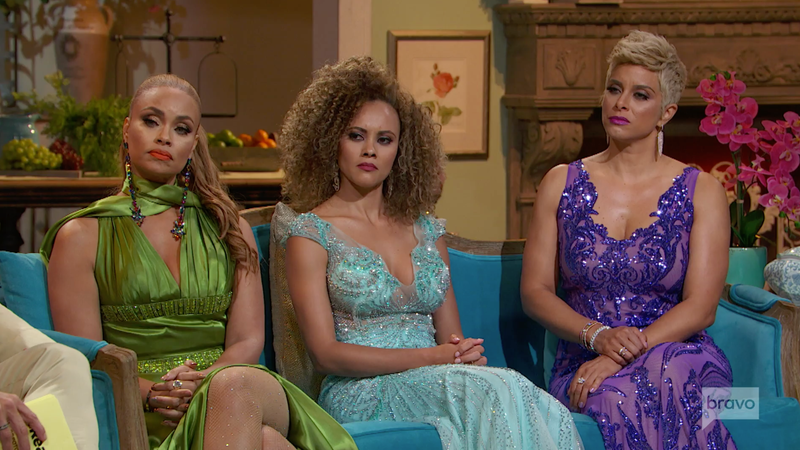 Gizelle, Ashley, and Robyn at the Real Housewives of Potomac reunion