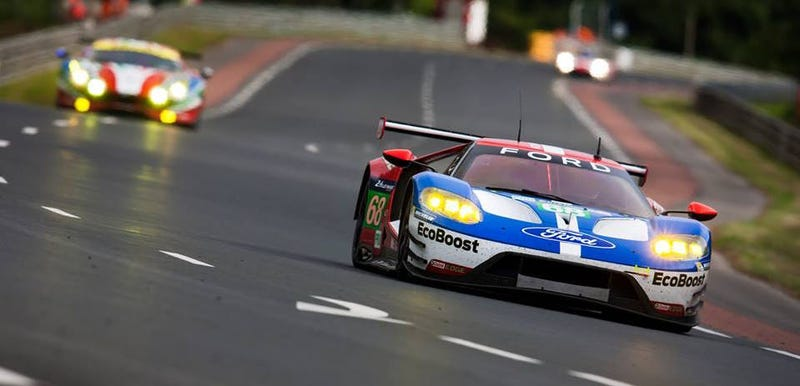 Illustration for article titled Holy Crap The Ford GT Is On Pole For Le Mans