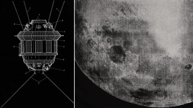 Illustration for article titled The First Photo Of The Far Side Of The Moon