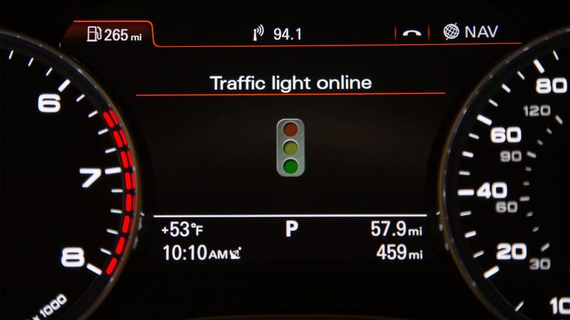 Illustration for article titled Audi's New Tech Can Turn Every Traffic Light In Front Of You Green