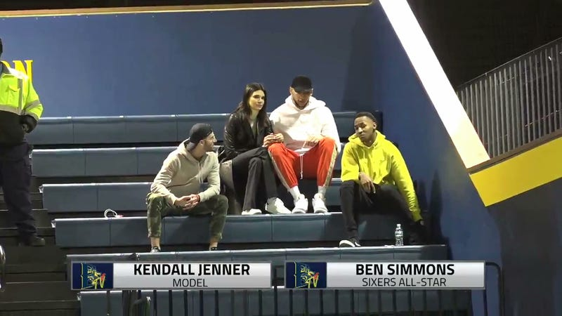 Illustration for article titled If Kendall Jenner Is Going To Drexel Basketball Games With Ben Simmons, It Really Is True Love