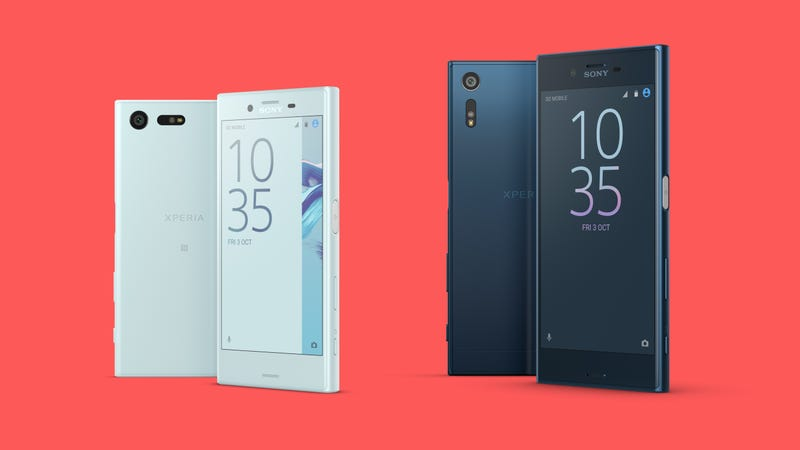 The Xperia X Compact is on the left and the Xperia XZ is on the right. (All images: Sony)