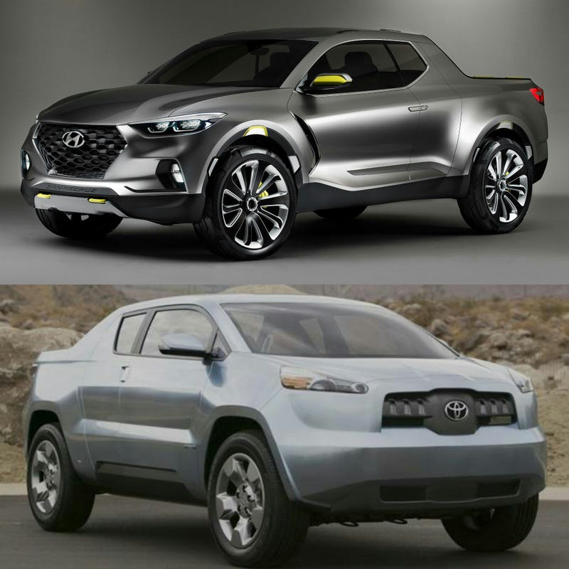 Illustration for article titled Hyundai: Our lifestyle pick-up truck concept got positive reactions. Let's build it.