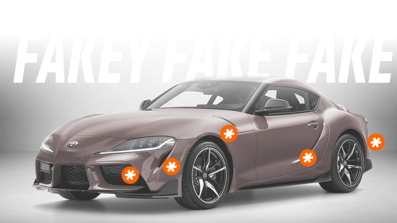 Illustration for article titled Here's Every Fake Vent on the 2020 Toyota Supra