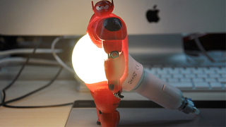 Illustration for article titled Baymax's belly becomes a Light source in this clever 3D printed Lamp