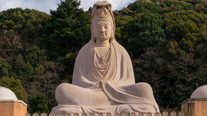 The Buddha at Ryozen Kannon, Kyoto, Japan. Photo by Patrick Allan.