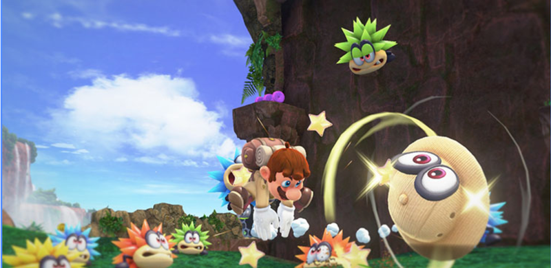 Screenshot from the upcoming Super Mario Odyssey game for the Nintendo Switch.