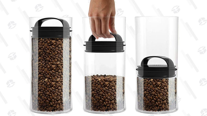 Evak Fresh Airless Storage Canister Small/Tall | $7 | Amazon | Clip the $.25 coupon