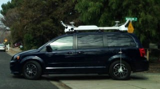 Illustration for article titled What Is Apple Doing With These Camera And Sensor-Laden Minivans?