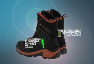 Illustration for article titled Columbia Bugathermo Boots Use Rechargeable Batteries to Keep Your Feet Toasty