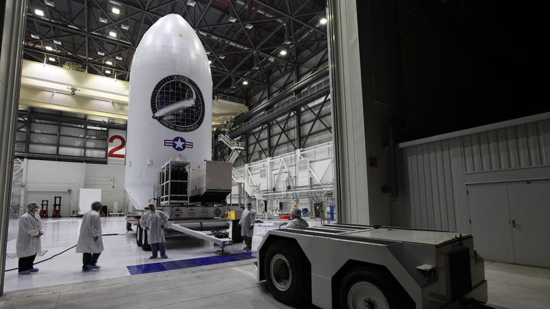 The X-37B Orbital Test Vehicle (OTV-5) being staged in September of 2017