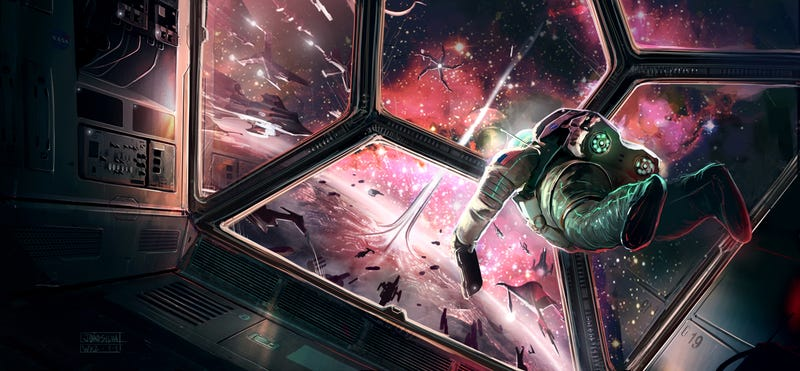 Illustration for article titled The View of the Space Elevator Is Beautiful From Here