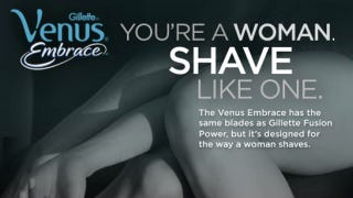 Illustration for article titled Terrible Things Await Women Who Use Men's Razors, Says Gillette