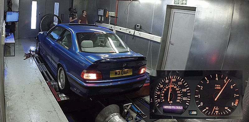 Heres How Much Horsepower A 20Year Old BMW M3 Really Makes