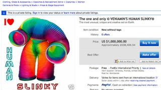 Illustration for article titled For Sale: Giant Slinky Suit, Like New Condition — $1,000,000