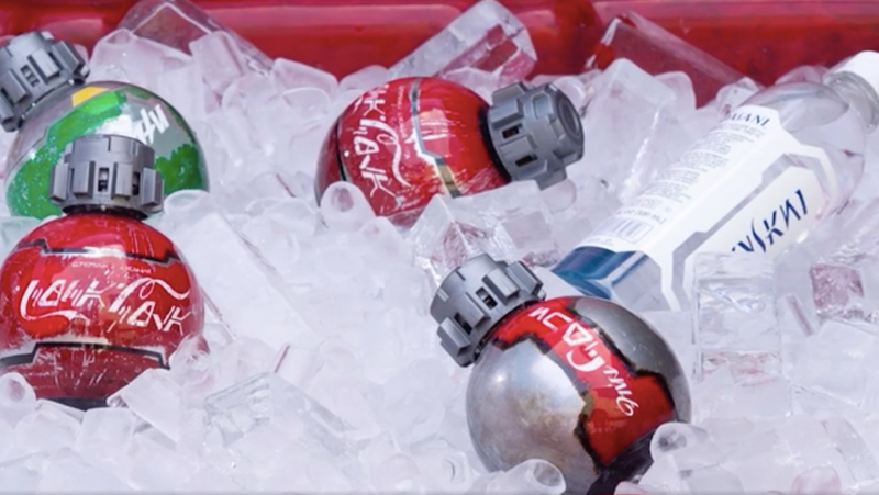 An assortment of Coke products styled like drinks from the world of Star Wars.
