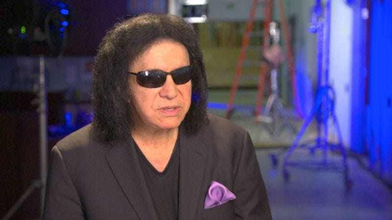 """Illustration for article titled Gene Simmons declares himself """"Rock Caesar,"""" is making a battle of the bands reality show"""