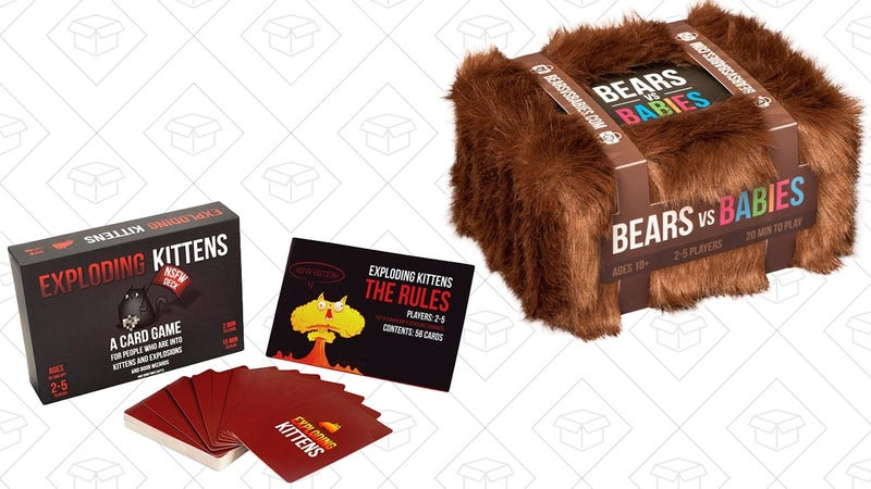 Bears vs. Babies | $21 | Amazon Exploding Kittens NSFW Edition | $16 | Amazon