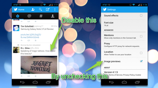 Illustration for article titled Disable Image Previews in the New Twitter Mobile Apps