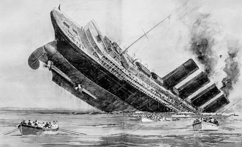 Illustration for article titled How The Sinking Of The Lusitania Heralded An Entirely New Kind Of War