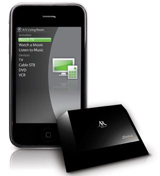 Illustration for article titled Audiovox Zentral Turns Your iPhone or BlackBerry Into a Remote (or Garage Door Opener)