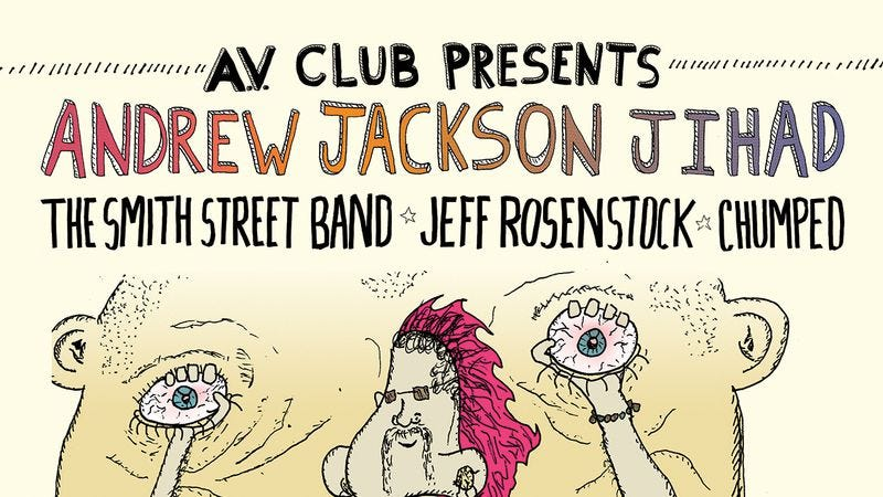 Illustration for article titled Mark your calendars, Andrew Jackson Jihad is going on tour presented by The A.V. Club