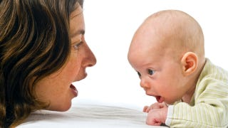 social referencing and synchrony infants The infant social-referencing study measures how infants respond to seeing and hearing their mothers' and strangers' (research assistants) interactions with one another.