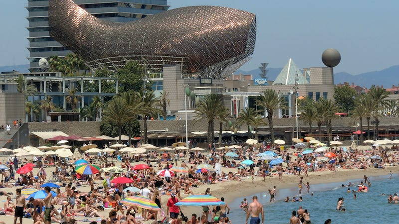 Barcelona Residents Protest Drunk, Naked Tourists Mucking