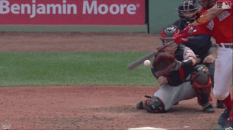 Orioles' Chance Sisco Capped Off A Bad Inning With A Foul Tip To The Dick And Balls