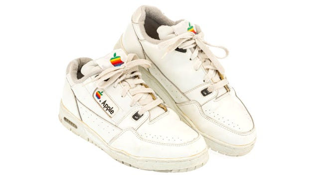 A Classic Pair of Apple-Branded Sneakers Just Sold For Almost $10,000